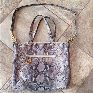 | nwot | MICHAEL KORS Leather Python Bag